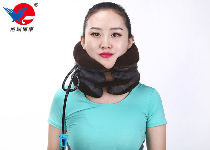 Free Size Black Cervical Traction Collar Encrypted Knitted Full Elastic Flannel Material